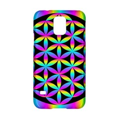 Flower Of Life Gradient Fill Black Circle Plain Samsung Galaxy S5 Hardshell Case