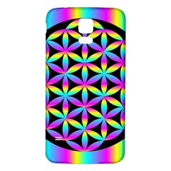 Flower Of Life Gradient Fill Black Circle Plain Samsung Galaxy S5 Back Case (white)