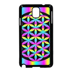 Flower Of Life Gradient Fill Black Circle Plain Samsung Galaxy Note 3 Neo Hardshell Case (black)