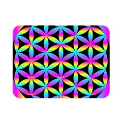 Flower Of Life Gradient Fill Black Circle Plain Double Sided Flano Blanket (Mini)