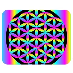 Flower Of Life Gradient Fill Black Circle Plain Double Sided Flano Blanket (Medium)