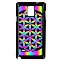 Flower Of Life Gradient Fill Black Circle Plain Samsung Galaxy Note 4 Case (Black)