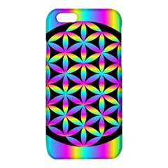 Flower Of Life Gradient Fill Black Circle Plain iPhone 6/6S TPU Case