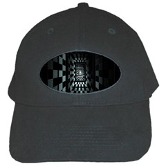 Optical Illusion Square Abstract Geometry Black Cap