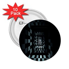 Optical Illusion Square Abstract Geometry 2 25  Buttons (10 Pack)