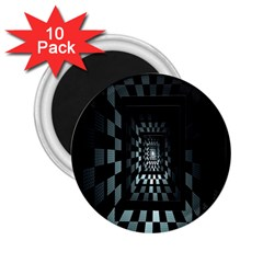 Optical Illusion Square Abstract Geometry 2.25  Magnets (10 pack)