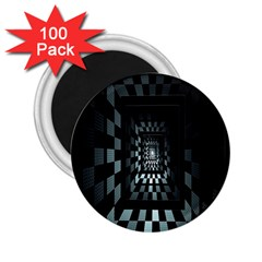 Optical Illusion Square Abstract Geometry 2 25  Magnets (100 Pack)