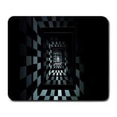 Optical Illusion Square Abstract Geometry Large Mousepads