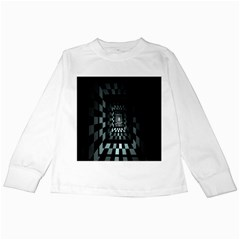 Optical Illusion Square Abstract Geometry Kids Long Sleeve T Shirts