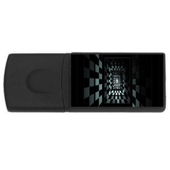Optical Illusion Square Abstract Geometry Usb Flash Drive Rectangular (4 Gb)