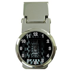 Optical Illusion Square Abstract Geometry Money Clip Watches