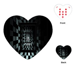 Optical Illusion Square Abstract Geometry Playing Cards (heart)