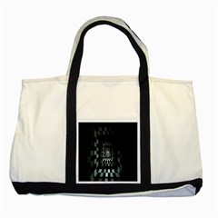 Optical Illusion Square Abstract Geometry Two Tone Tote Bag