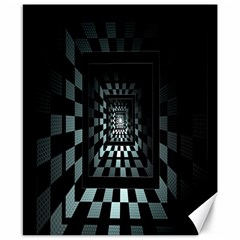 Optical Illusion Square Abstract Geometry Canvas 8  x 10
