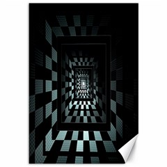Optical Illusion Square Abstract Geometry Canvas 12  X 18