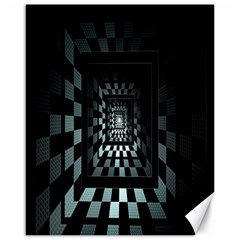 Optical Illusion Square Abstract Geometry Canvas 16  X 20