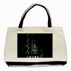 Optical Illusion Square Abstract Geometry Basic Tote Bag (Two Sides)