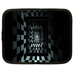 Optical Illusion Square Abstract Geometry Netbook Case (Large)