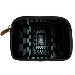 Optical Illusion Square Abstract Geometry Digital Camera Cases