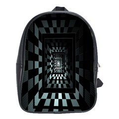 Optical Illusion Square Abstract Geometry School Bags(large)