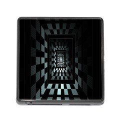 Optical Illusion Square Abstract Geometry Memory Card Reader (square)