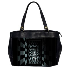 Optical Illusion Square Abstract Geometry Office Handbags (2 Sides)