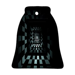 Optical Illusion Square Abstract Geometry Bell Ornament (two Sides)