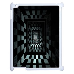 Optical Illusion Square Abstract Geometry Apple Ipad 2 Case (white)