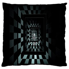 Optical Illusion Square Abstract Geometry Large Cushion Case (One Side)