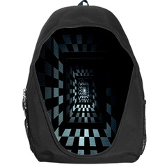 Optical Illusion Square Abstract Geometry Backpack Bag