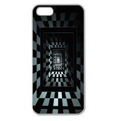 Optical Illusion Square Abstract Geometry Apple Seamless iPhone 5 Case (Clear)