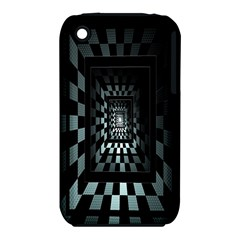 Optical Illusion Square Abstract Geometry iPhone 3S/3GS