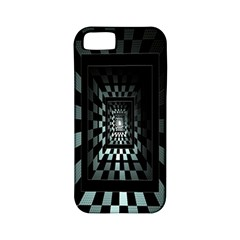 Optical Illusion Square Abstract Geometry Apple iPhone 5 Classic Hardshell Case (PC+Silicone)