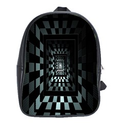 Optical Illusion Square Abstract Geometry School Bags (XL)