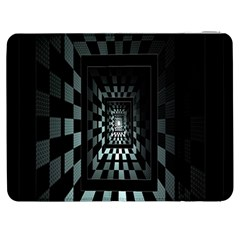 Optical Illusion Square Abstract Geometry Samsung Galaxy Tab 7  P1000 Flip Case