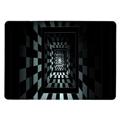 Optical Illusion Square Abstract Geometry Samsung Galaxy Tab 10 1  P7500 Flip Case