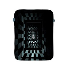 Optical Illusion Square Abstract Geometry Apple iPad 2/3/4 Protective Soft Cases