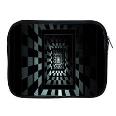 Optical Illusion Square Abstract Geometry Apple iPad 2/3/4 Zipper Cases