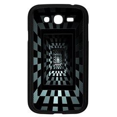 Optical Illusion Square Abstract Geometry Samsung Galaxy Grand DUOS I9082 Case (Black)