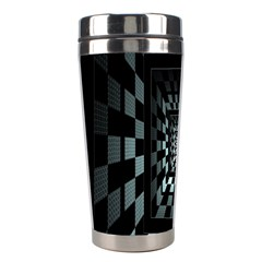 Optical Illusion Square Abstract Geometry Stainless Steel Travel Tumblers