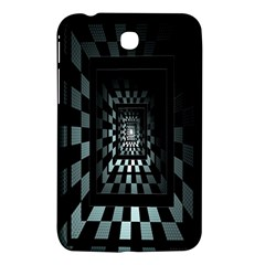 Optical Illusion Square Abstract Geometry Samsung Galaxy Tab 3 (7 ) P3200 Hardshell Case