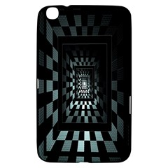 Optical Illusion Square Abstract Geometry Samsung Galaxy Tab 3 (8 ) T3100 Hardshell Case