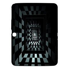 Optical Illusion Square Abstract Geometry Samsung Galaxy Tab 3 (10.1 ) P5200 Hardshell Case