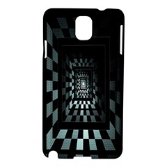 Optical Illusion Square Abstract Geometry Samsung Galaxy Note 3 N9005 Hardshell Case