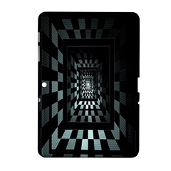 Optical Illusion Square Abstract Geometry Samsung Galaxy Tab 2 (10.1 ) P5100 Hardshell Case