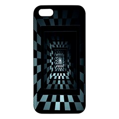 Optical Illusion Square Abstract Geometry iPhone 5S/ SE Premium Hardshell Case