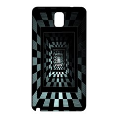 Optical Illusion Square Abstract Geometry Samsung Galaxy Note 3 N9005 Hardshell Back Case