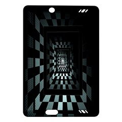 Optical Illusion Square Abstract Geometry Amazon Kindle Fire HD (2013) Hardshell Case