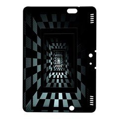 Optical Illusion Square Abstract Geometry Kindle Fire HDX 8.9  Hardshell Case