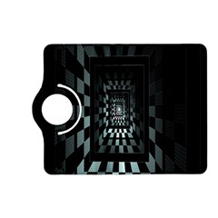 Optical Illusion Square Abstract Geometry Kindle Fire HD (2013) Flip 360 Case